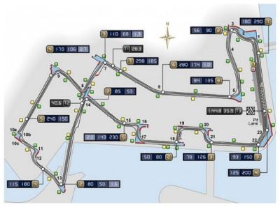 Singapore-Circuito-F1-mappa