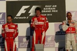 Bahrain 2010 podium
