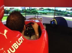 Francesco Svelto in azione al volante della F138 sul tracciato di Imola