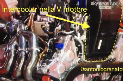 Intercooler Ferrari nella V motore