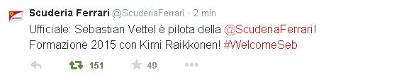vettel-ferrari-tweet