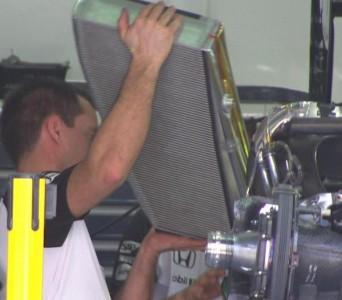 L'intercooler aria/aria utilizzato dalla McLaren -Honda