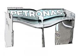 F1 La Mercedes sorprende con l'ala posteriore
