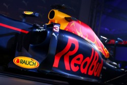 LONDON, ENGLAND - FEBRUARY 17:  The RB11 featuring the 2016 livery is unveiled during the launch event for PUMA and Red Bull Racing's 2016 Livery and Teamwear at Old Truman Brewery on February 17, 2016 in London, England.  (Photo by Clive Mason/Getty Images)