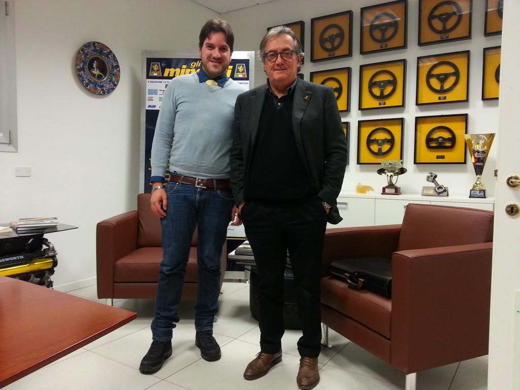 L'autore (F. Svelto) e G. Minardi