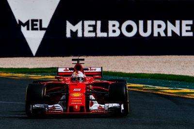 Trionfo della Ferrari a Melbourne. Vettel davanti alle due Mercedes