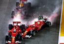 Singapore: Vettel, Verstappen e Raikkonen, incidente di gara, manovra evitabile.