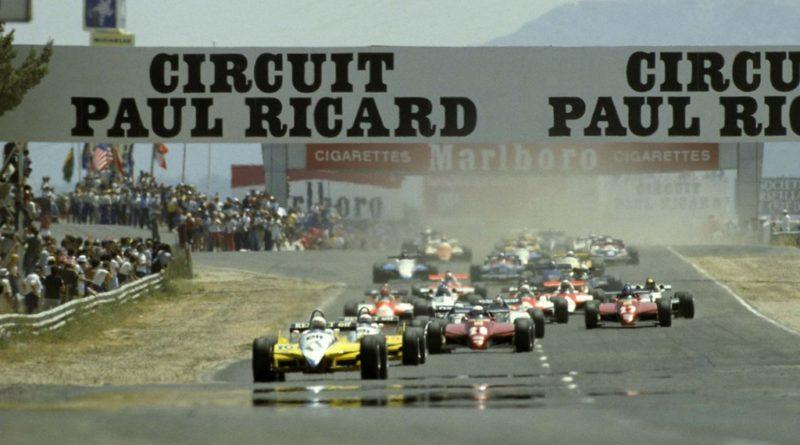GP Francia 1982: dietro ai due galli spunta un pavone