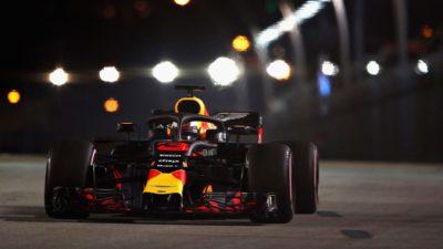 Formula1- Gp di Singapore: doppietta Red Bull nelle prime libere