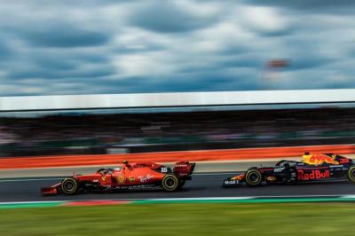 Leclerc-Verstappen, Silverstone, 2019