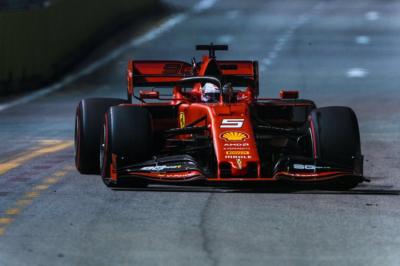 Vettel, Ferrari, Singapore, 2019