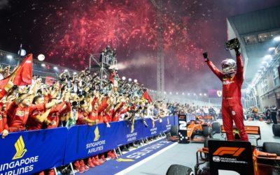 Vettel vince il GP di Singapore 2019