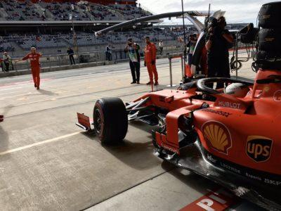 F1   Austin: 2019, Sebastian Vettel al box