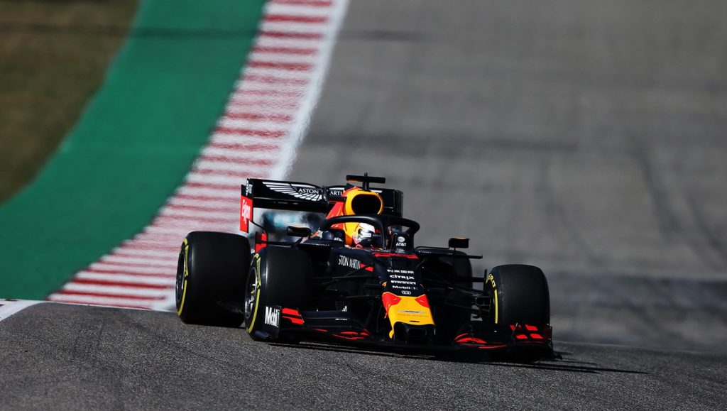F1   Austin: 2019, Max Verstappen in azione