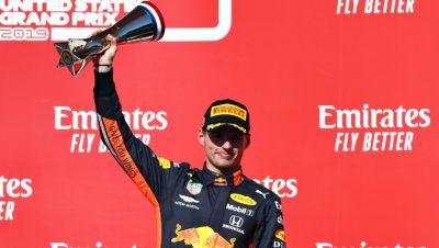 F1 | Austin: 2019, Max Verstappen a podio nel GP delle Americhe