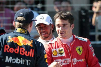 Verstappen Leclerc F1