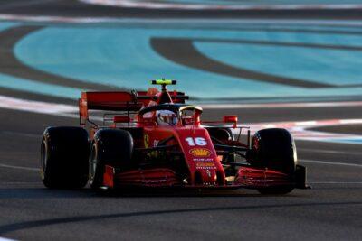 Leclerc Abu Dhabi F1